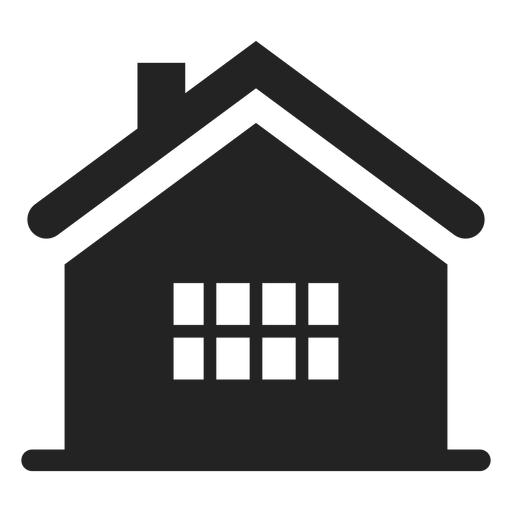 Home black silhouette Transparent PNG