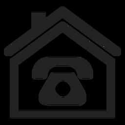 Ícone de telefone em casa
