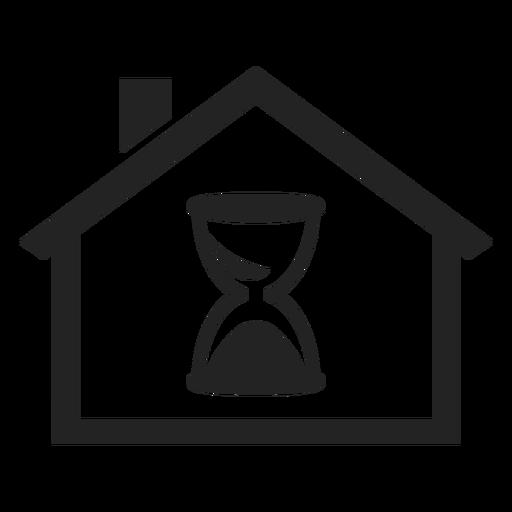 Inicio con un icono de reloj de arena Transparent PNG