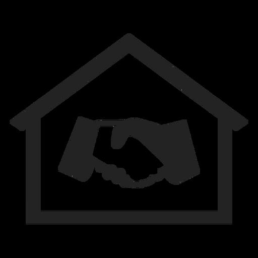 Haus mit der Hand, die Ikone rüttelt Transparent PNG