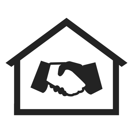 Home with hand shaking icon Transparent PNG