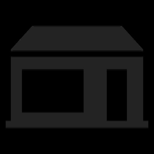 Casa com ícone de porta e janela ampla