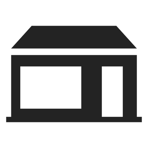 Home with wide door and window icon Transparent PNG