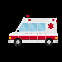Ilustração de ambulância de hospital