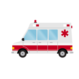 Ilustración de ambulancia de hospital