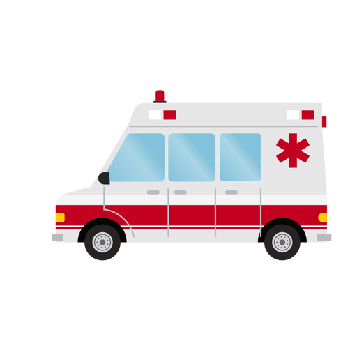 Hospital ambulance illustration Transparent PNG
