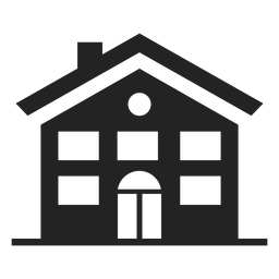 Casa, pretas, ícone