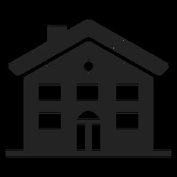 Icono negro de la casa