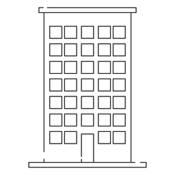Haus Gebäude Liniensymbol