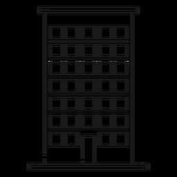 Icono de línea de construcción de casa