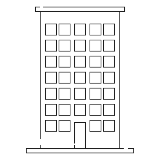 House building line icon