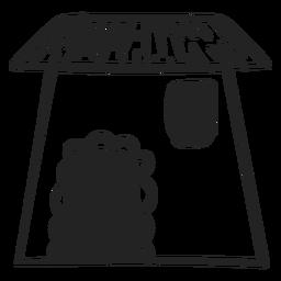 Haus Gekritzel-Symbol