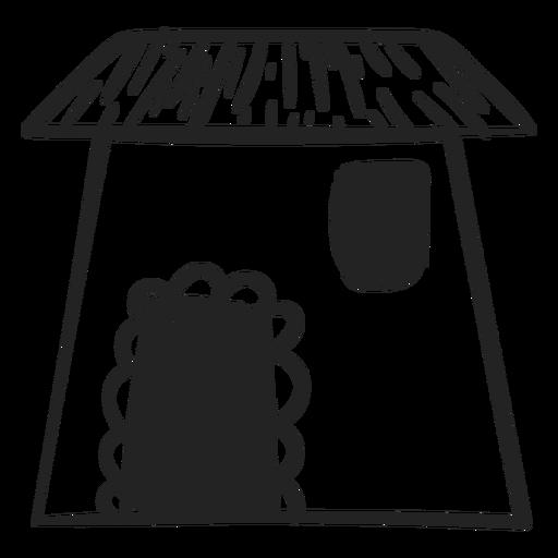 House doodle icon Transparent PNG