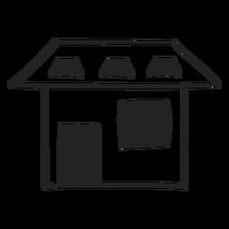 Haus Zeichenstil-Symbol