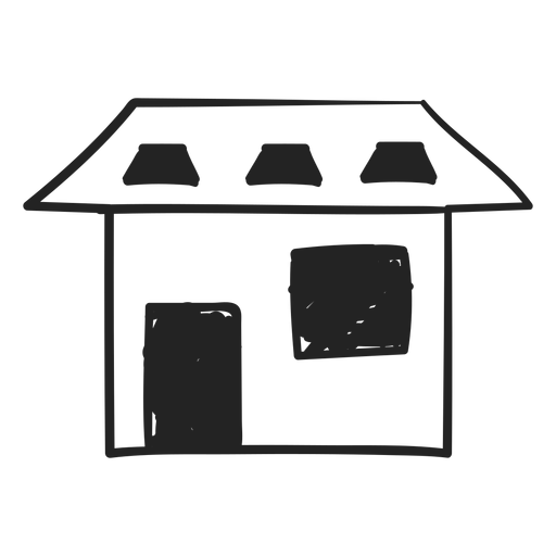 Icono de estilo de dibujo de casa Transparent PNG