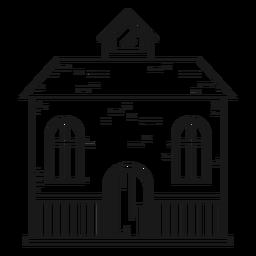 Haus mit einem Dachgeschoss-Symbol