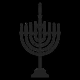 Icono de la menorah judía de hanukkah