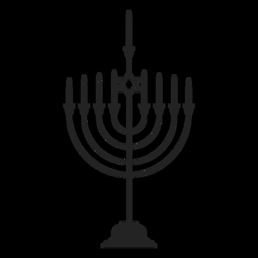 Jewish hanukkah menorah icon Transparent PNG