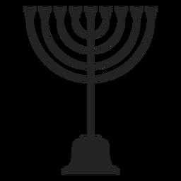 Icono de menorá judía