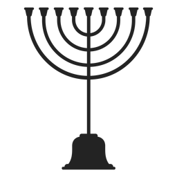 Jewish menorah icon