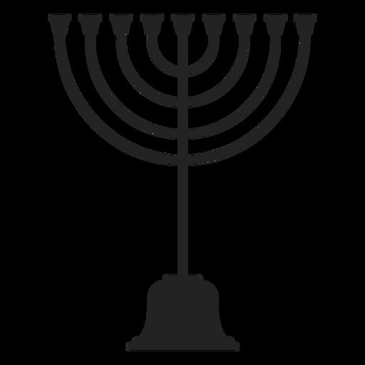 Icono de la menorá judía Transparent PNG