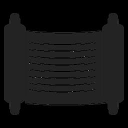 Icono de desplazamiento negro judío