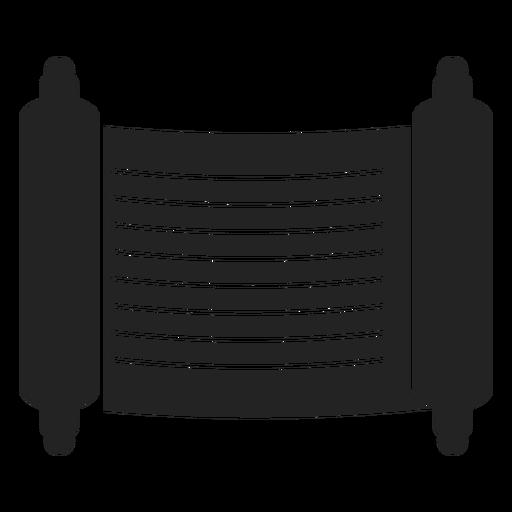 Icono de desplazamiento negro judío Transparent PNG