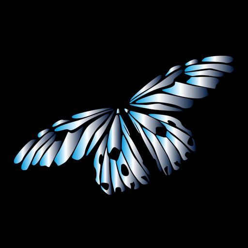 Diseño de mariposa de color claro Transparent PNG