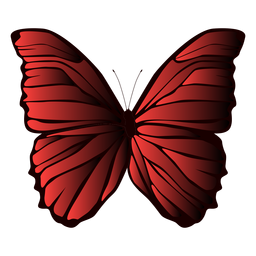 Alas forradas mariposa