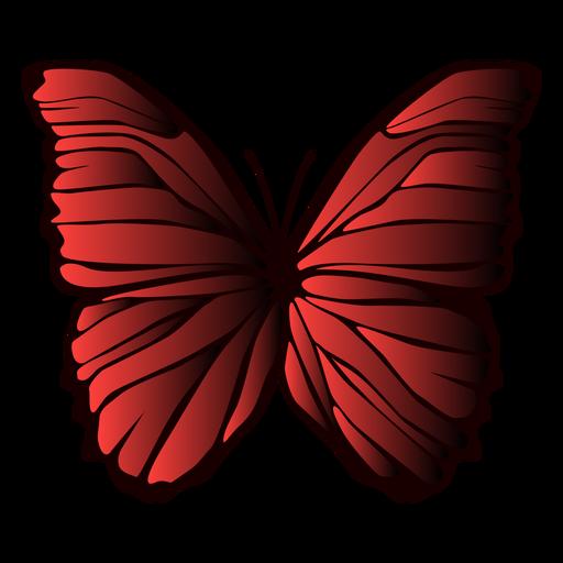 Borboleta de asas forradas Transparent PNG