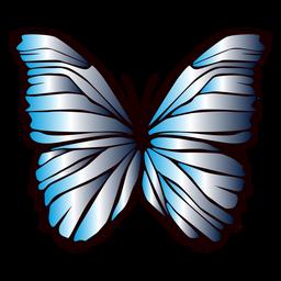 Alas forradas en diseño de mariposa.