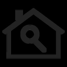 Ícone de lupa para casa