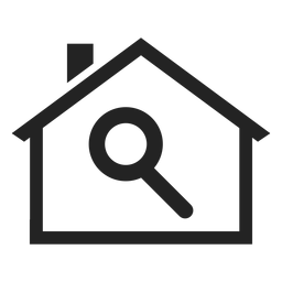 Magnifying glass home icon