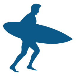 Silhueta de surfista masculino