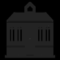 Mansão em casa silhueta negra