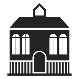 Mansion home black silhouette
