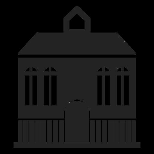Mansão em casa silhueta negra Transparent PNG
