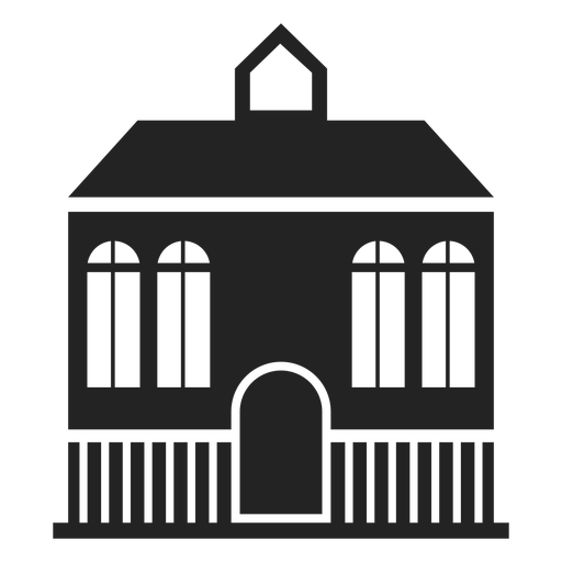 Mansion home black silhouette Transparent PNG