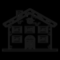 Icono de estilo de línea de casa de mansión