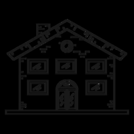 Icono de estilo de línea de mansión Transparent PNG