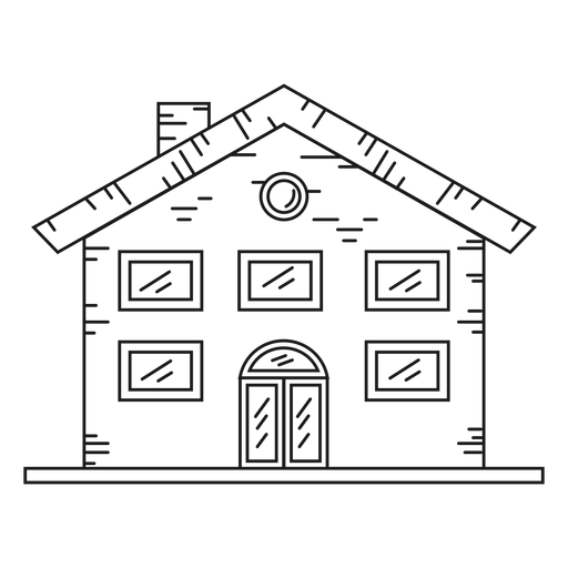 Mansion house line style icon Transparent PNG
