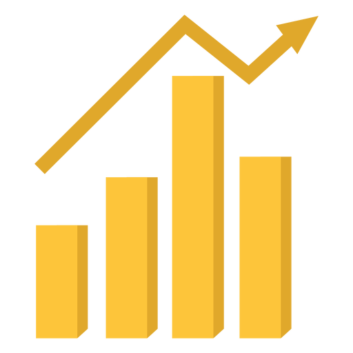Marketing chart illustration Transparent PNG