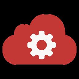 Ícone de configurações de nuvem de marketing