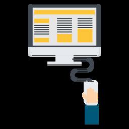 Ilustração de computador de marketing