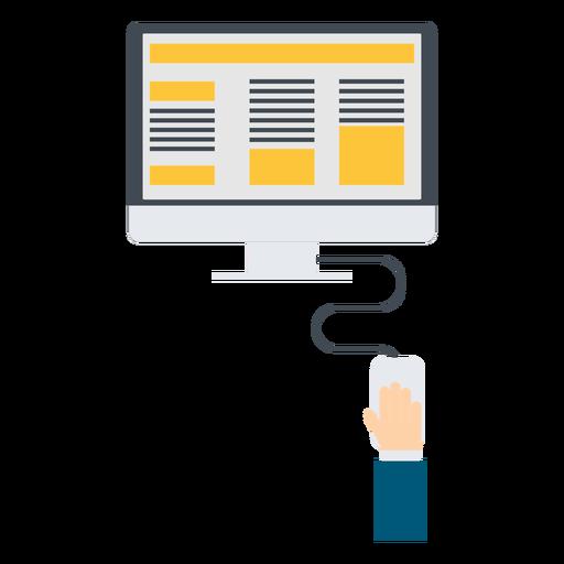 Ilustración de computadora de marketing