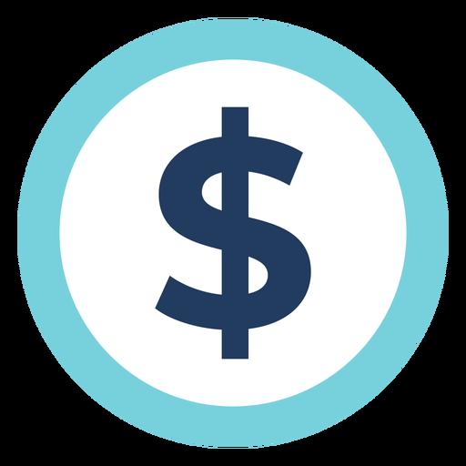 Icono de signo de dólar de marketing