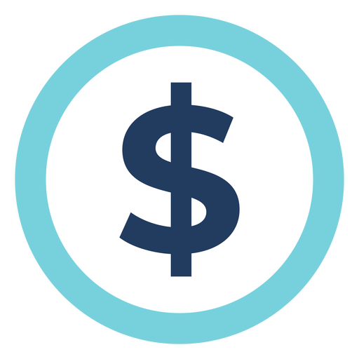 Marketing dollar sign icon Transparent PNG