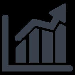 Icono de gráfico de marketing