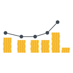 Marketing graph illustration