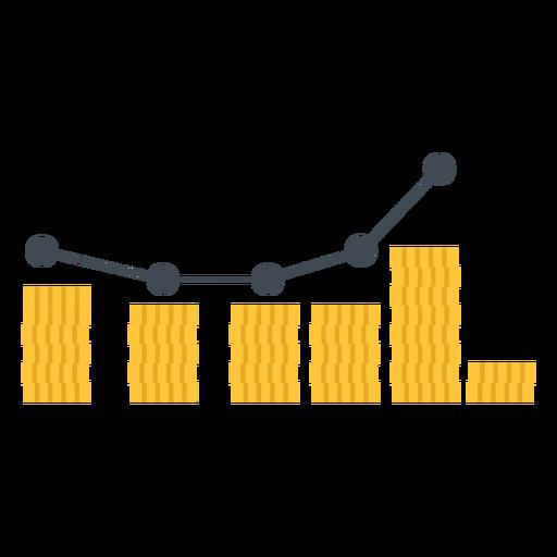Marketing graph illustration Transparent PNG